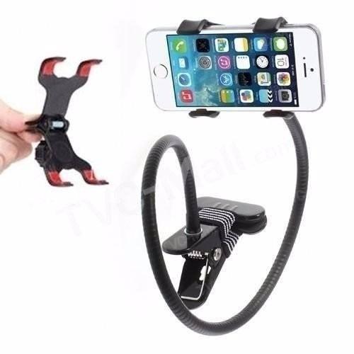 Гибкий универсальный держатель для телефона с прищепкой