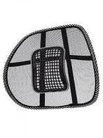 Ортопедическая спинка-подушка на кресло и авто сиденье c массажем, фото 1