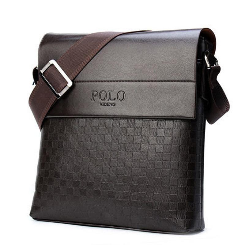 Мужская кожаная сумка Polo в стиле casual. Модель 0445