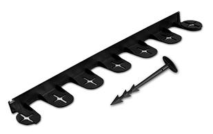 Бордюр газонный PALISGARDEN 3м, набор-5 элементов/60 см*38мм+12 колышков GeoPEG, черный, OBP1201-003BN