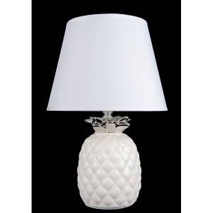 Настольная лампа Ананас с абажуром  NTD71778 серебро+белый