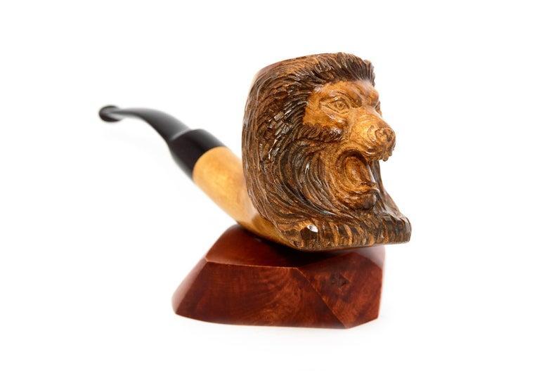 Трубка для курения Лев мундштук эбонит под 9 мм фильтр