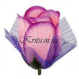 Искусственные цветы букет бутоны роз с фатином, 51см, фото 2