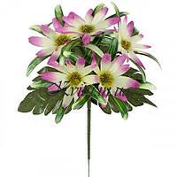 Искусственные цветы букет астры декоративные бордюр, 21см