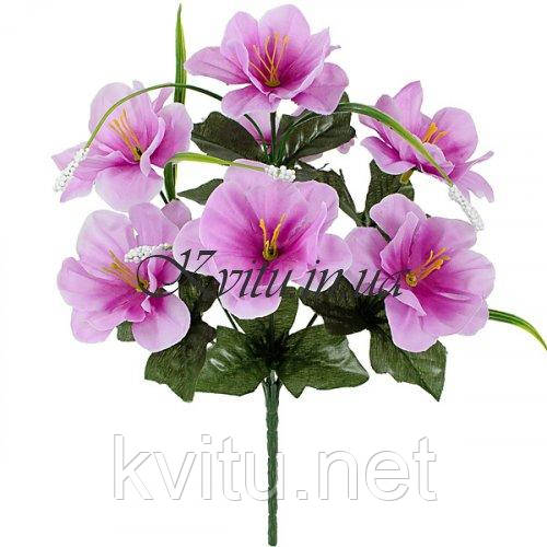 Искусственные цветы букет азалия усатая, 29см