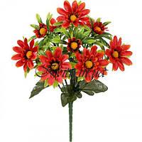 Искусственные цветы букет астры атласные густые, 31см