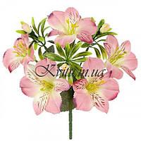 Искусственные цветы букет альстромерии искусственные, 27см
