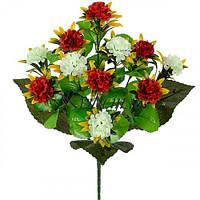 Искусственные цветы букет калинка двухцветная микс, 45см