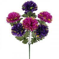 Искусственные цветы букет хризантема шар микс, 53см