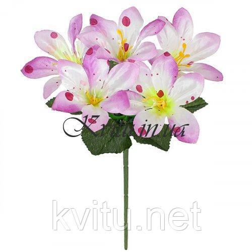 Искусственные цветы букет заливка лилия атлас конфетти, 23см