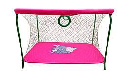 Манеж игровой KinderBox с крупной сеткой Малиновый km 5520, КОД: 369340