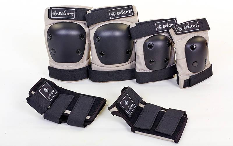 Захист наколінники, налокітники, рукавички Zelart METROPOLIS (р-р M-L, сірий)