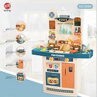 Детский игровой набор интерактивная кухня большая 998B Fun Cooking Бирюзовая