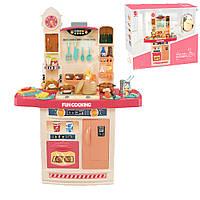 Детская интерактивная кухня Fun Cooking 998B Для девочек от 3 лет Розовая