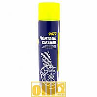 600мл Mannol 9672 MONTAGE CLEANER очиститель тормозной системы, обезжириватель автодеталей для монтажных работ