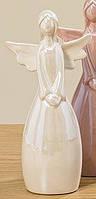 Статуетка Ангел кольорова кераміка һ18см, фото 1