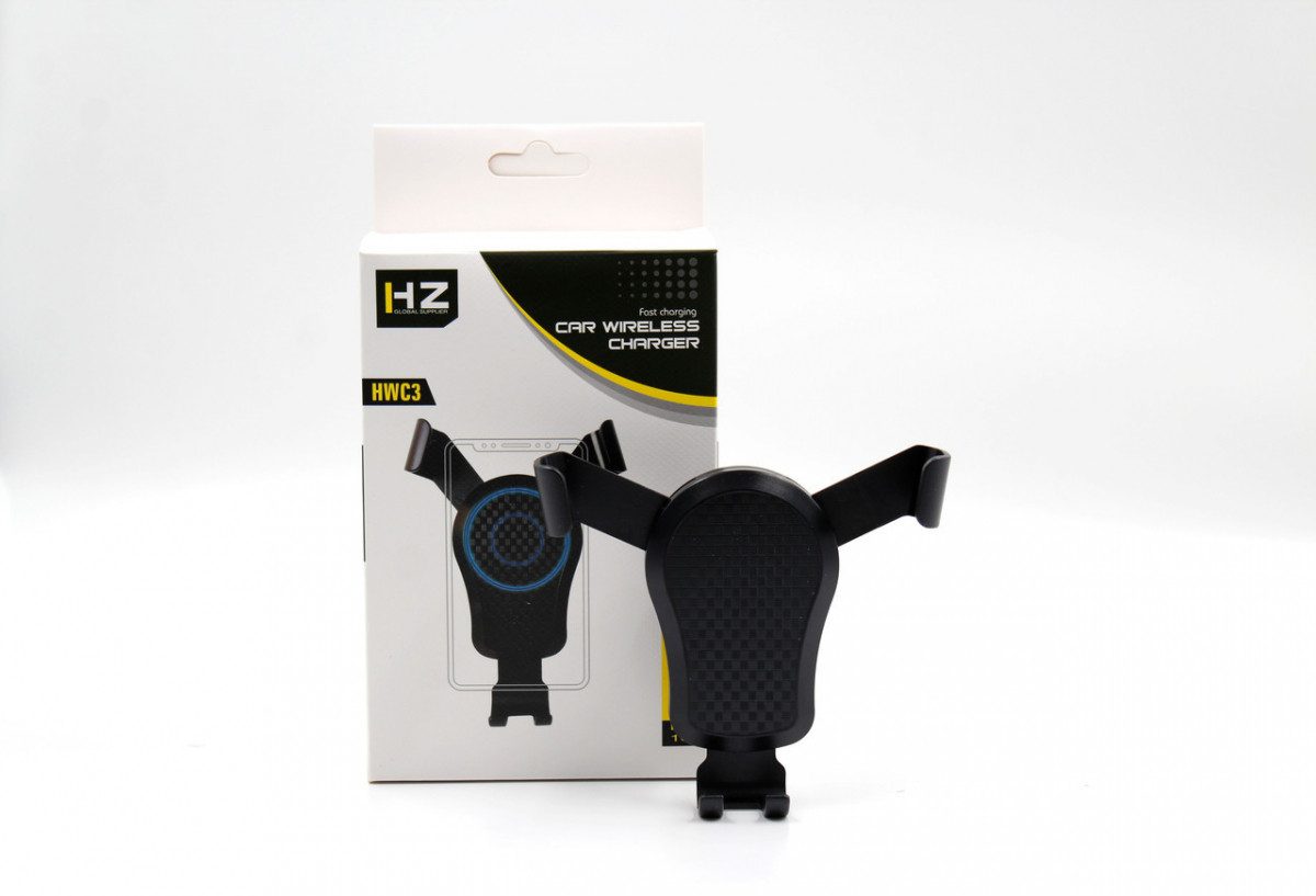Автомобильный держатель телефона с беспроводной зарядкой HWC 3 Wireless charger