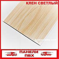 Панель ПВХ (пластиковая) Клен Светлый (Д-06) 250х6000х8 мм.