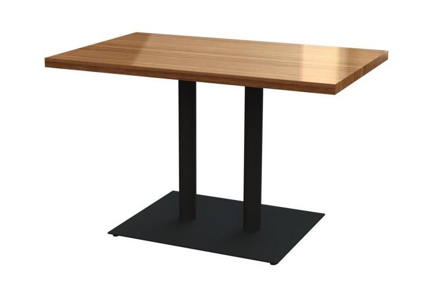 Комплекты прямоугольных столов для кафе баров из массива дерева и ножки из металла, фото 1