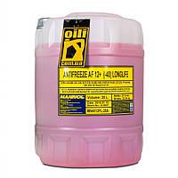 Антифриз готовый красный 20л MANNOL Longlife Antifreeze AF12+ -40°C (охлаждающая жидкость)