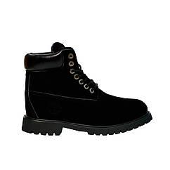 Женские зимние ботинки Реплика Timberland 35 р Черные t0460, КОД: 1373275