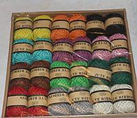 Джутовый шнур цветной 10 метров Х 12 шт  6341, фото 1