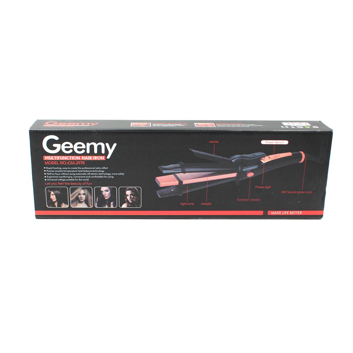 Щипцы для волос GM 2978 3в1 (плойка, выпрямитель/утюжок, гофре)