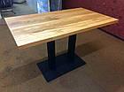 Стол для кафе баров из массива дерева и ножки из металла, фото 6