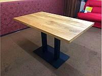 Стол для кафе баров из массива дерева и ножки из металла, фото 1