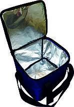 Термосумка 34х30х30 (30,6 л) с фольгой синяя-электрик, фото 2