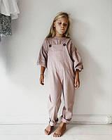 Льняной комбинезон детский, цвета в ассортименте от ярких до пастели, фото 1