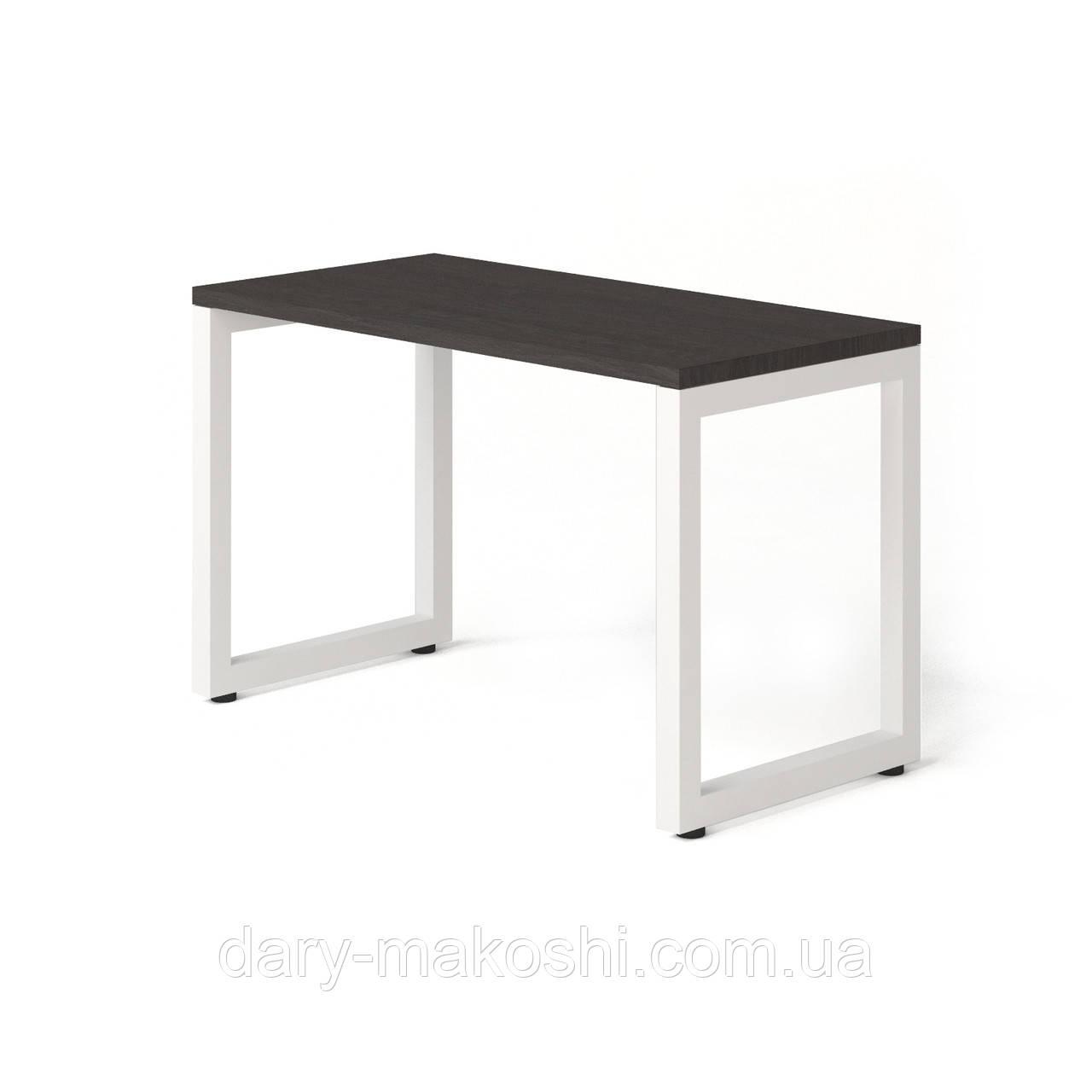 Стол Тавол КС 8.3 металл опоры белые 120смх60смх75см ДСП 32 мм Венге