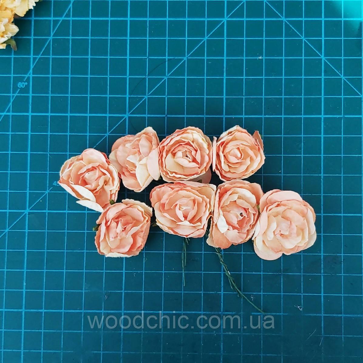 Цветы бумажные розы 05