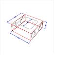 """Картонная коробка для суши """"Миди"""" крафт, фото 2"""