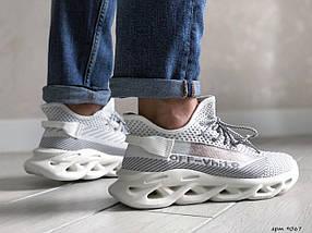 Демисезонные кроссовки белые текстильные, фото 2