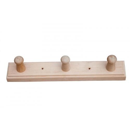 Вешалка для бани на 3 крючка