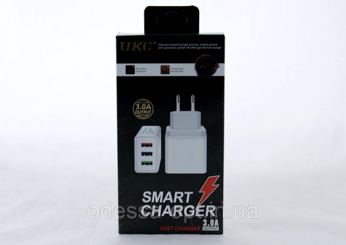 Адаптер Fast Charge AR 001 3 USB (250)в уп.250шт