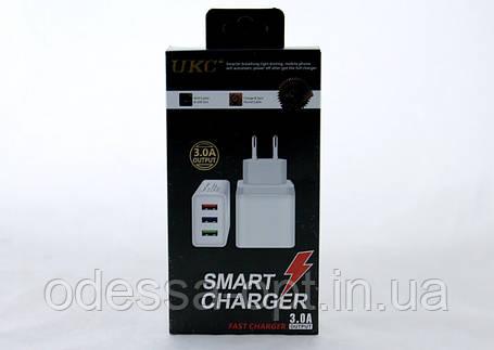 Адаптер Fast Charge AR 001 3 USB (250)в уп.250шт, фото 2