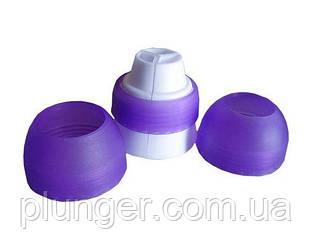 Переходник для кондитерских насадок на три мешка пластиковый