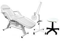 Кушетка массажно-косметологическая + лампа + табурет (масажний косметологічний стіл + стілець + лампа), фото 1