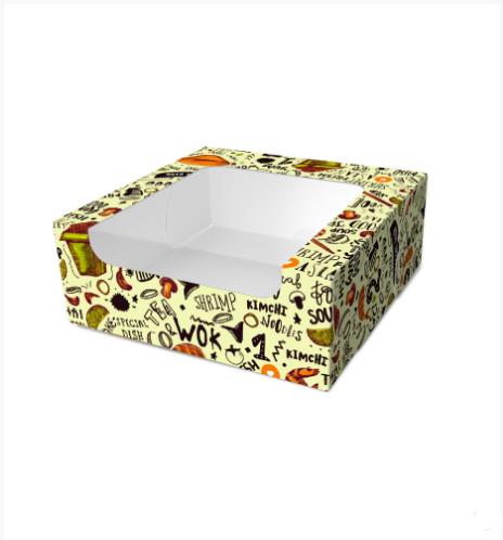 """Картонная коробка для суши """"Миди"""" светлая"""