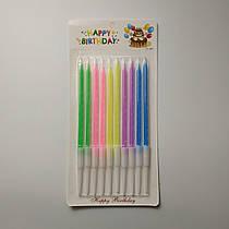 Свечи для торта SoFun неоновые ассорти 10 шт