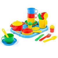 """Набор детской посуды с подносом """"Хозяюшка"""""""