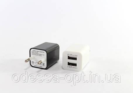 Адаптер 2100 кубик на 2 USB, фото 2