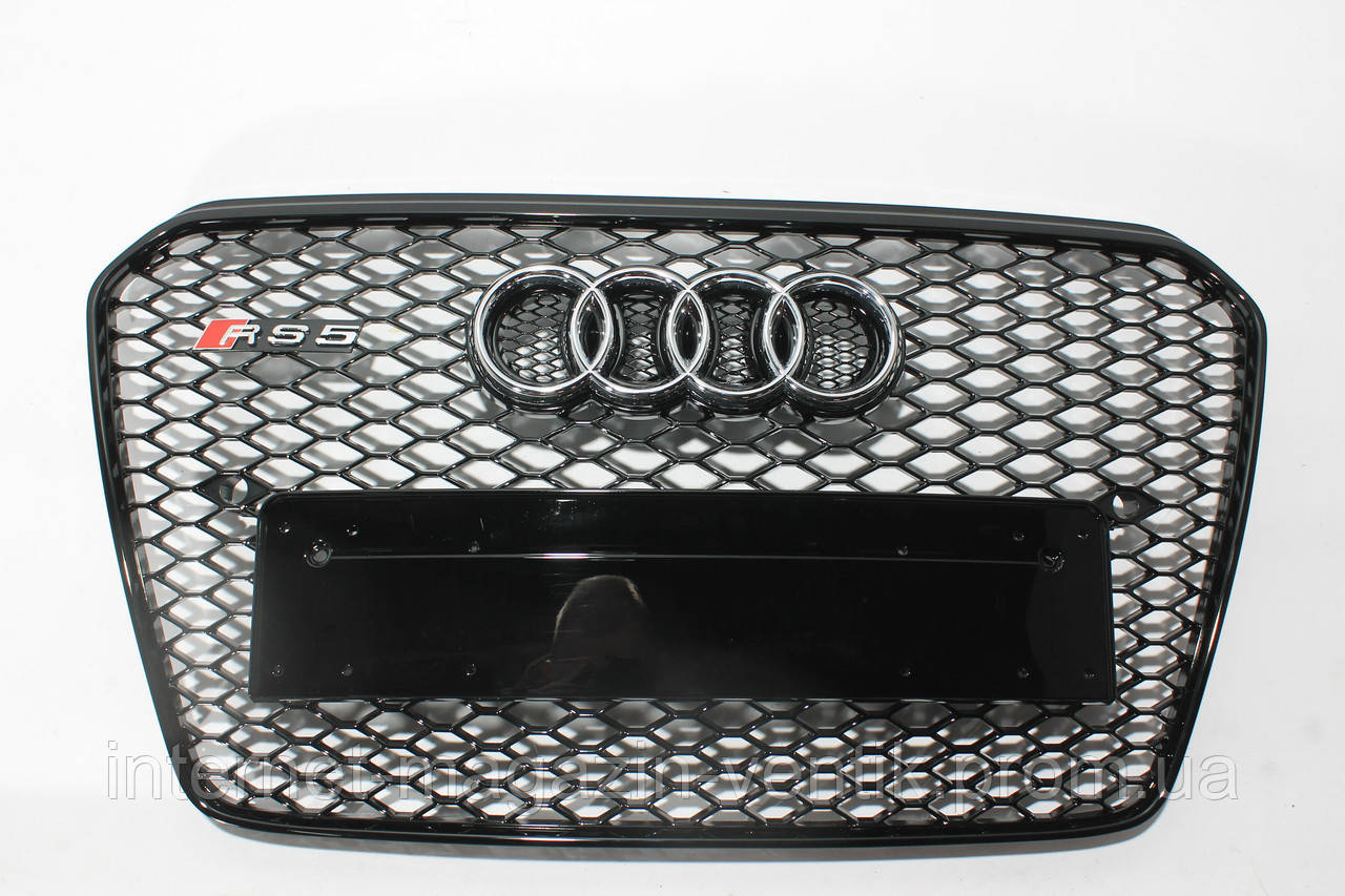 Черная решетка радиатора стиль RS5 для Audi A5 12-15