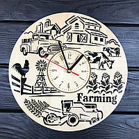Тематические настенные деревянные часы «Ферма», фото 1