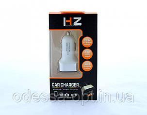 Адаптер CAR (АВТОМОБИЛЬНЫЙ) 2 USB HC1/9001 с отображением напряжения, фото 2