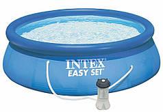 Бассейн надувной с насосом Intex Easy Set Pool 28122 305х76 Blue
