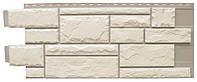 Фасадная панель Тесаный камень White blend