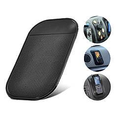 Силиконовый противоскользящий автомобильный коврик Lesko для смартфона планшета влагостойкий